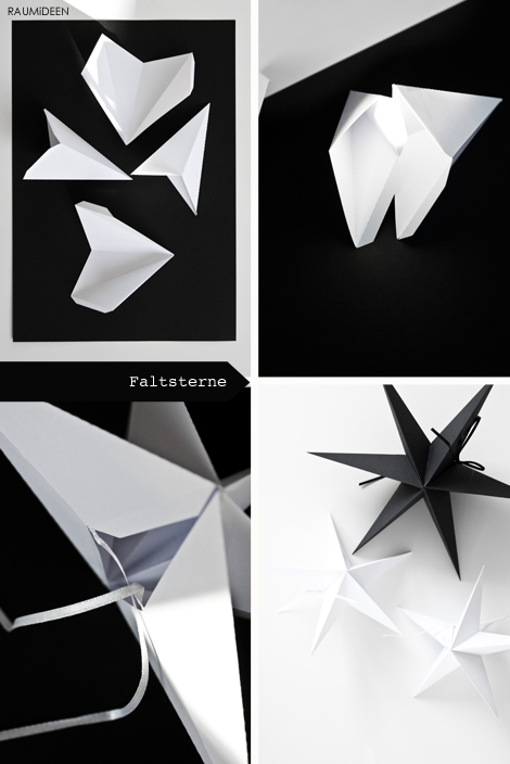 Faltsterne aus Papier zum selber machen.