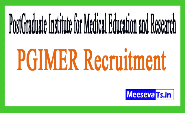 PostGraduate Institute for Medical Education and Research PGIMER Recruitment