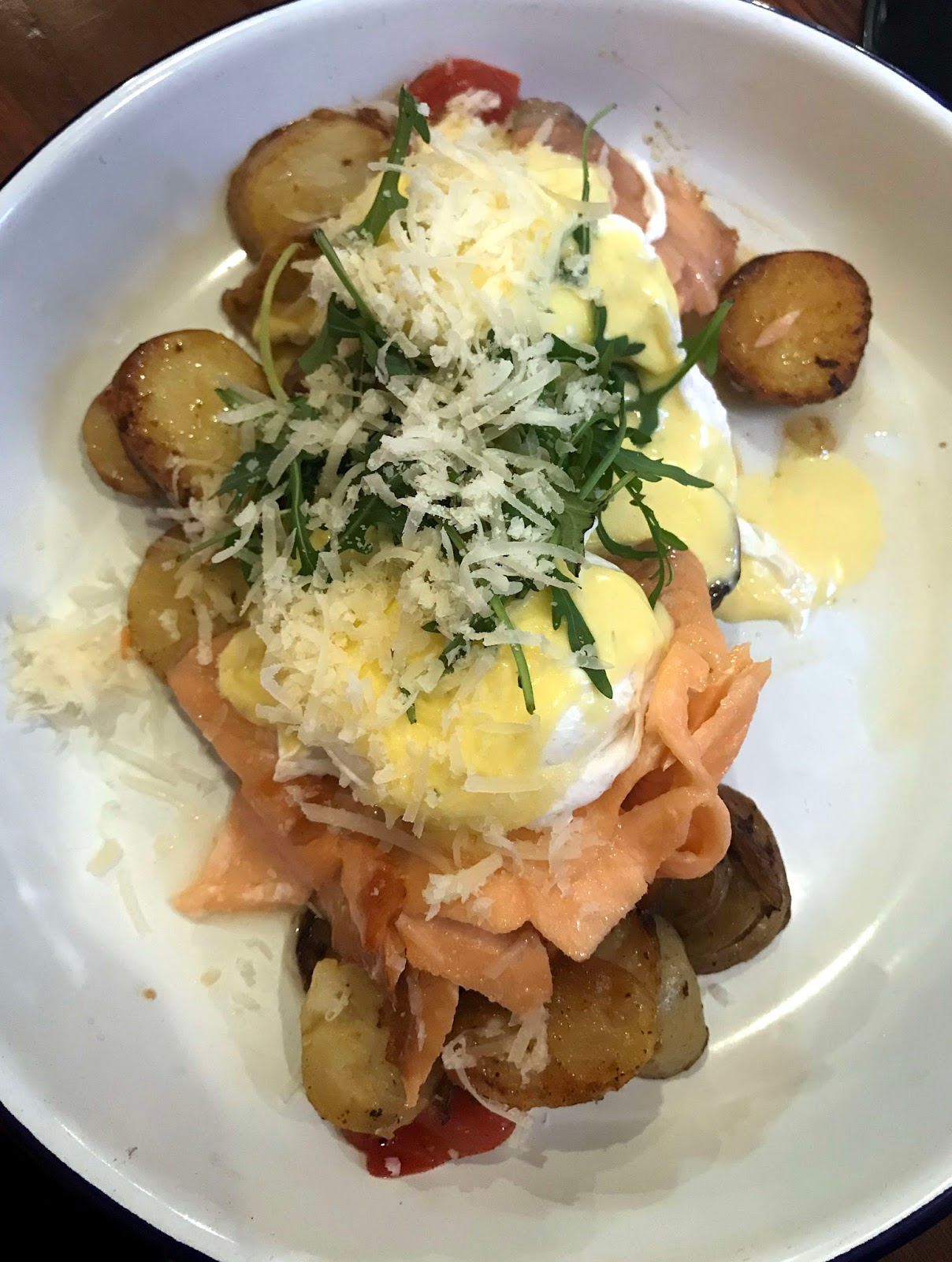 Stitch & Bear - Ali's Kitchen - Hot smoked salmon hash