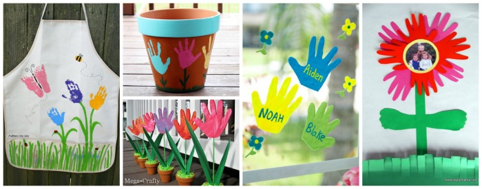20+ adorable handprint gift ideas for Mother's Day