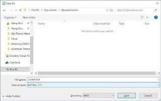 computer new folder lock