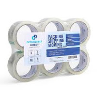 Industrial Grade Clear Packing Tape, 60/110 yds, 2 to 3.1 mil Thick, 6 Pk/36 Pk