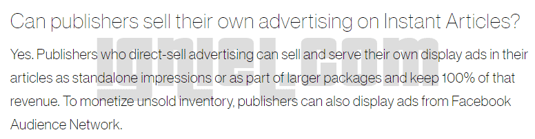 Amankah Memasang AdSense Di Facebook Instant Articles