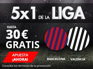 suertia promocion Barcelona vs Valencia 14 abril