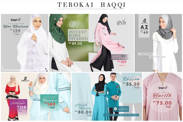 Fesyen Islamik dan Baju Raya Terkini di HAQQI.COM.MY