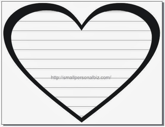 heart shaped writing template - love heart template images galleries