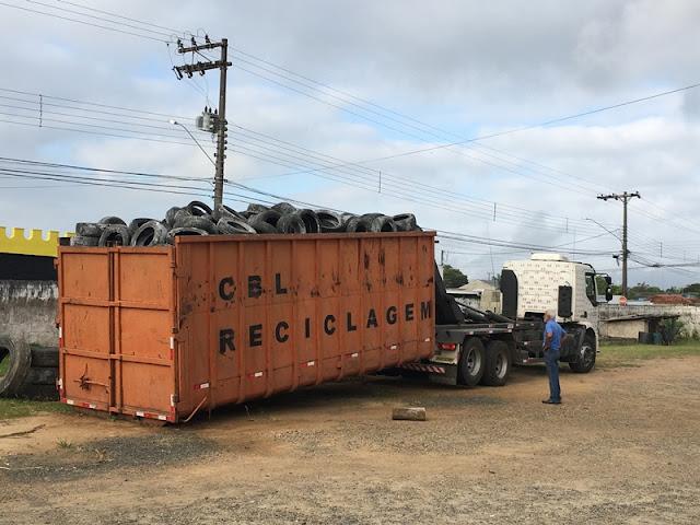 Secretaria de Meio Ambiente de Registro-SP recolhe mais de 3.500 pneus inservíveis em dois meses