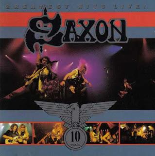 """Ο δίσκος των Saxon """"Greatest Hits Live!"""" που κυκλοφόρησε το 1990"""