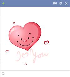 Smiley Heart Sticker