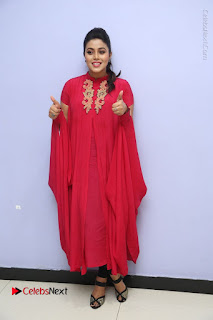 Actress Poorna Latest Stills in Red Dress at Rakshasi First Look Launch  0327.JPG