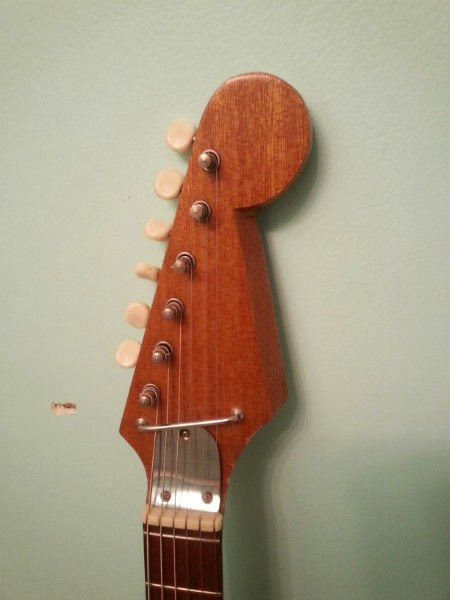 guitar blog very cool vintage ese solid body guitar look at the upper horn on this awesome ese guitar i m not sure i ve seen this model before