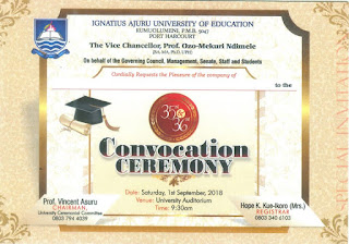 IAUE 35th & 36th Convocation Ceremony Programme of Events - 2018