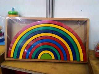 Rainbow Block - Mainan Kayu Edukatif   SeButik.com