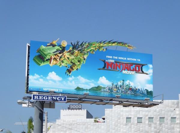 Lego Ninjago movie billboard