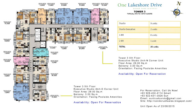 One Lakeshore Drive Tower 3 Executive Studio Unit