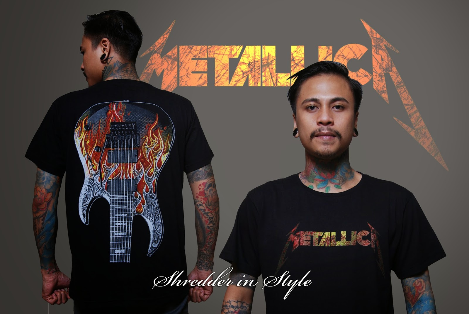 Shredder In Style Kaos Metallica Gitar Flame Metalica Deskripsi Ukuran M L Xl Body Fit Status Ready Stock Warna Hitam Harga Rp 100000