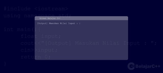 dasar input output c++