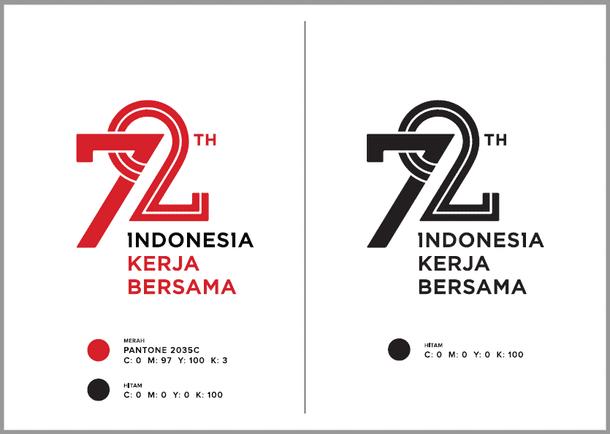 Logo Peringatan HUT Proklamasi Kemerdekaan RI Ke-72 Tahun 2017