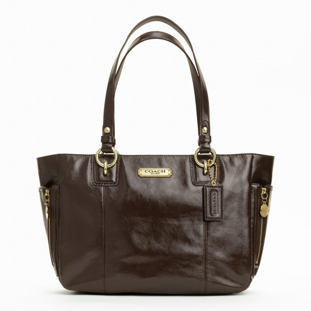 f20431 authentic coach gallery brown leather tote purse. Black Bedroom Furniture Sets. Home Design Ideas