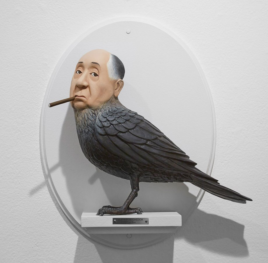 Incríveis esculturas que misturam diretores com os seus filmes.