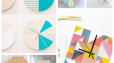 10 relojes geométricos ¡que sí puedes hacer!