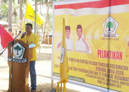 Ketua DPD II Partai Golkar Selayar, Lantik Pengurus Kecamatan Dan Kukuhkan Tim GNH 17