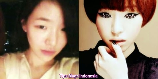 artis korea Gain - Brown Eyed Girls tanpa memakai makeup
