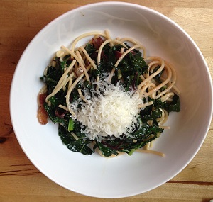 Chard and Kale Pasta