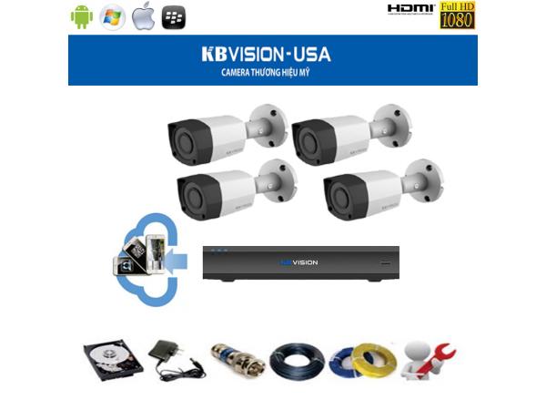 Trọn bộ camera KBVISION thương hiệu Mỹ giá rẻ