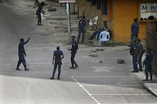 Congo has increaseed the presence of security personnels  in respect to the release of their  elections result.