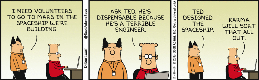 Fired for dilbert strip posted people