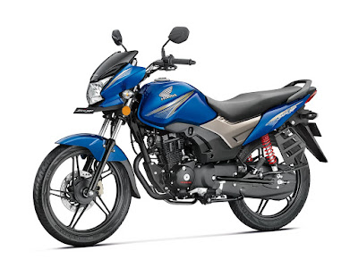 Honda CB Shine SP blue side image