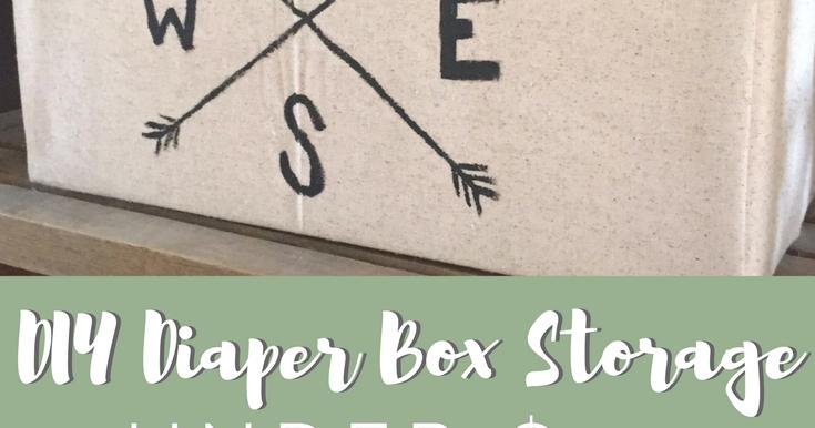 Diy Diaper Box Storage R R At Home