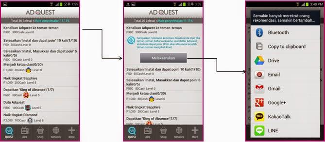 Cara Dapat Uang dari Hp dengan Ad Quest - Bisnis Online Gratis