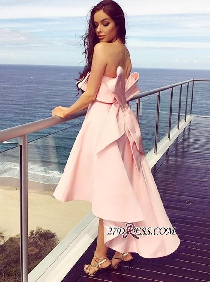 https://www.27dress.com/p/fashion-pink-bow-strapless-bridesmaid-dress-tea-length-sleeveless-bridesmaid-gown-108425.html
