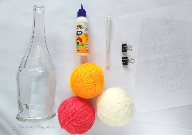 materials-empty-bottle-yarn-glue-marker-design-printout-plastic-sheet-binder-clip-myindianversion-blog