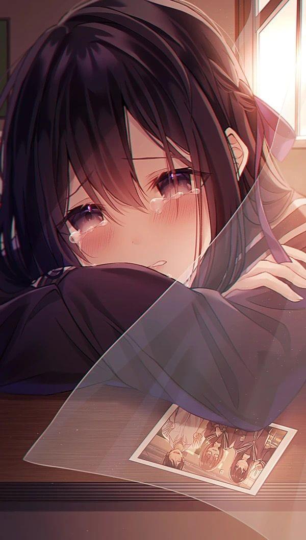 Foto gambar anime cewek sedih