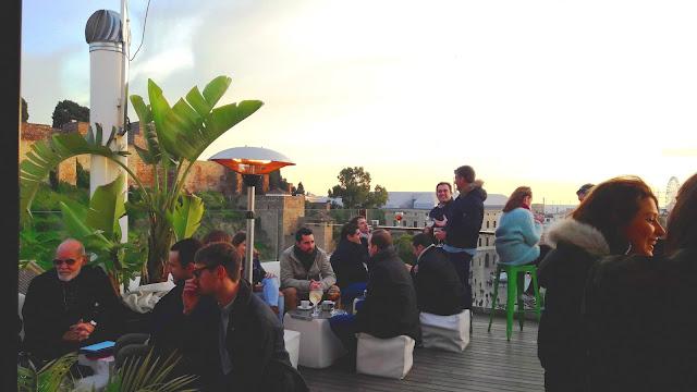 Batik Alcazaba Premium Hostel Roof Top Bar - MalagaTrips.com