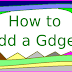 How to Add a Gadget to Blogger