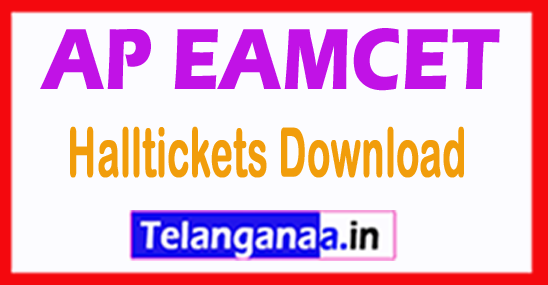 Andhra Pradesh AP EAMCET APEAMCET 2018 Halltickets Download