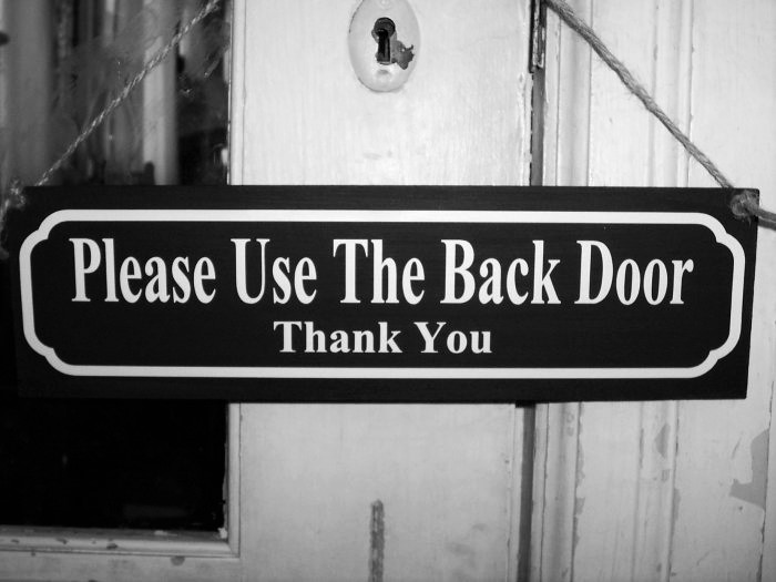 Please Use Back Door Sign Printable Demiriso Consultingco