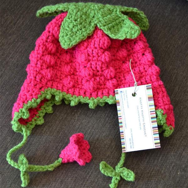 Sweet Strawberry Hat Free Pattern – Crochet Flow