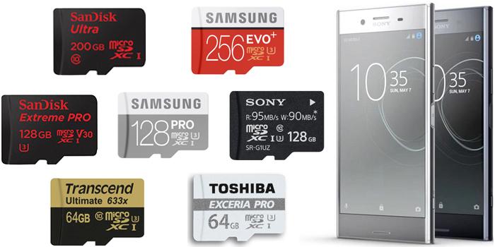 XPERIA XZ Premiumで使える「マイクロSDカードのおすすめ」を紹介