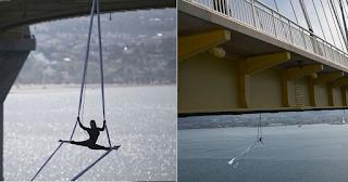 Ελληνίδα χορεύτρια κρεμάστηκε από την γέφυρα Ρίου-Αντιρρίου και χόρεψε στον αέρα