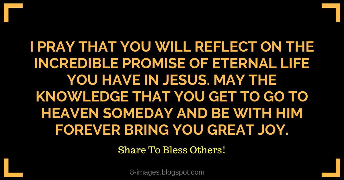 Prayer for the Gift of Eternal Life