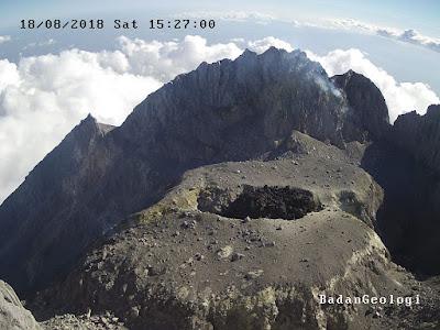kubah lava gunung nerapi