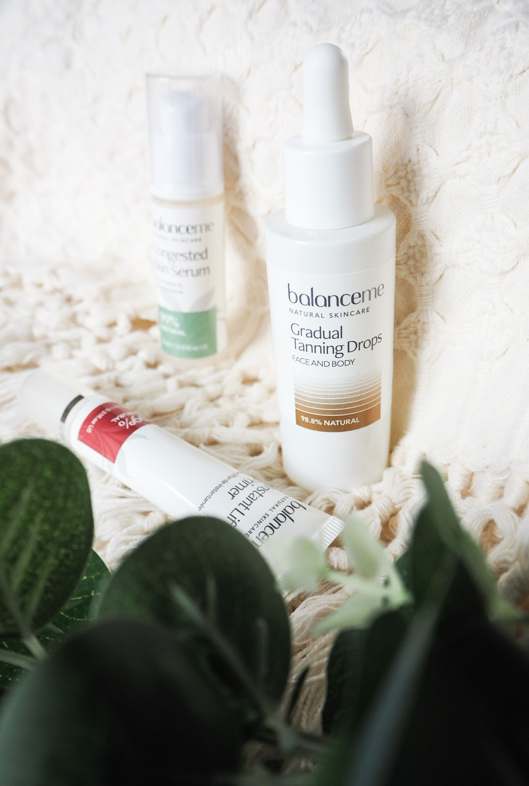 Balance Me Gradual Tanning Drops, Congested Skin Serum and Instant Lift Primer Review