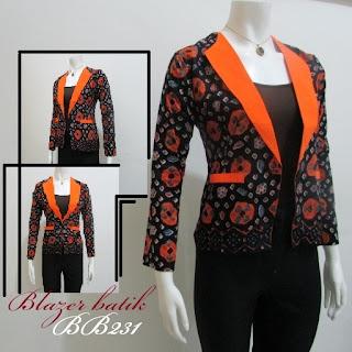 Contoh Baju Kerja Wanita Blazer Batik