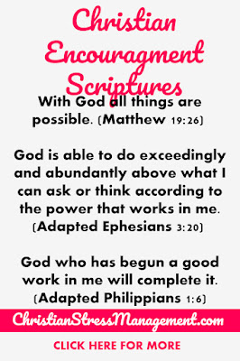 Christian Encouragement Scriptures