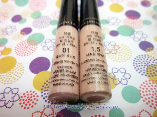 Packaging THE SAEM Cover Perfection Tip Concealer Review (No 1 & 1.5)